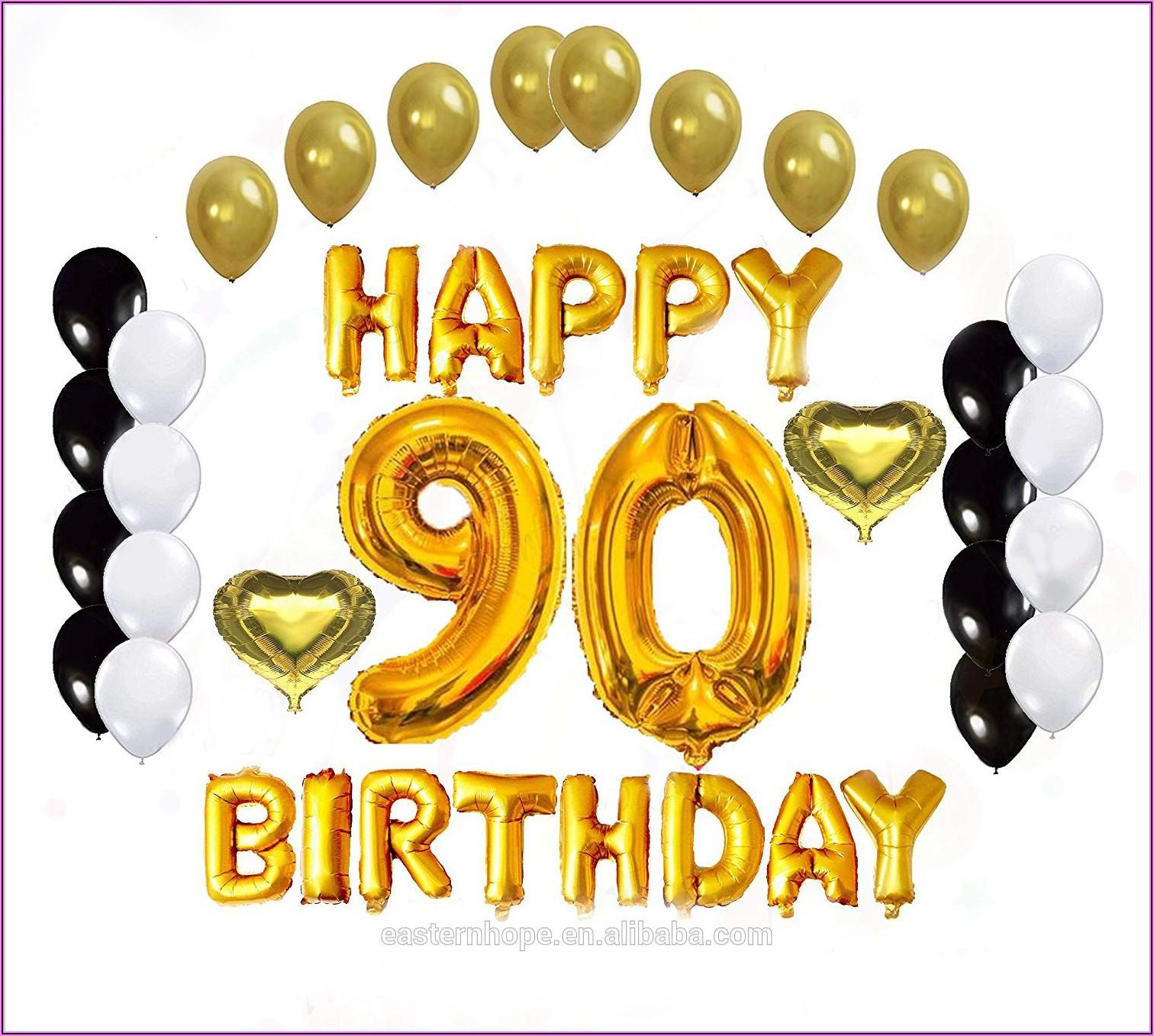 90th Birthday Invitations Ideas