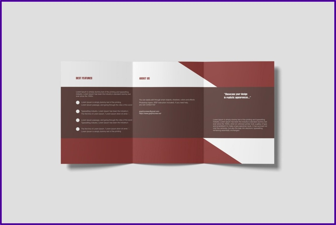 A4 3 Fold Brochure Mockup Free
