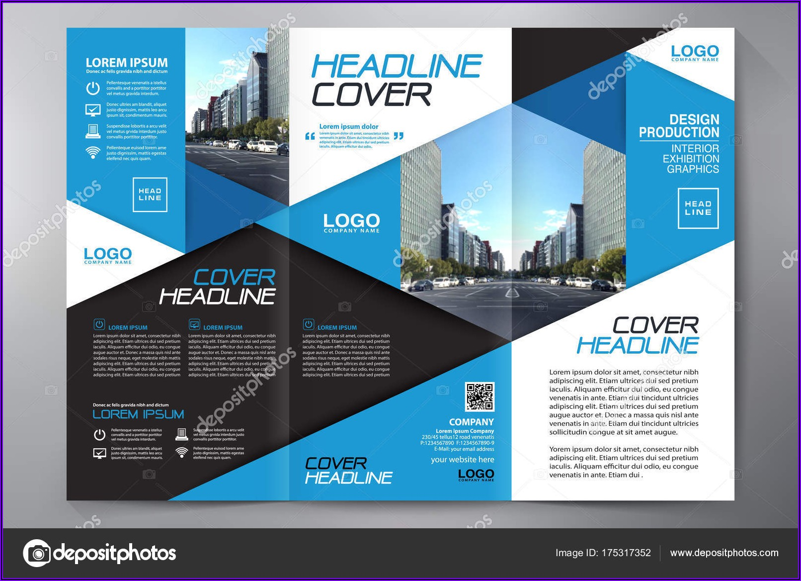 A4 3 Fold Brochure Template