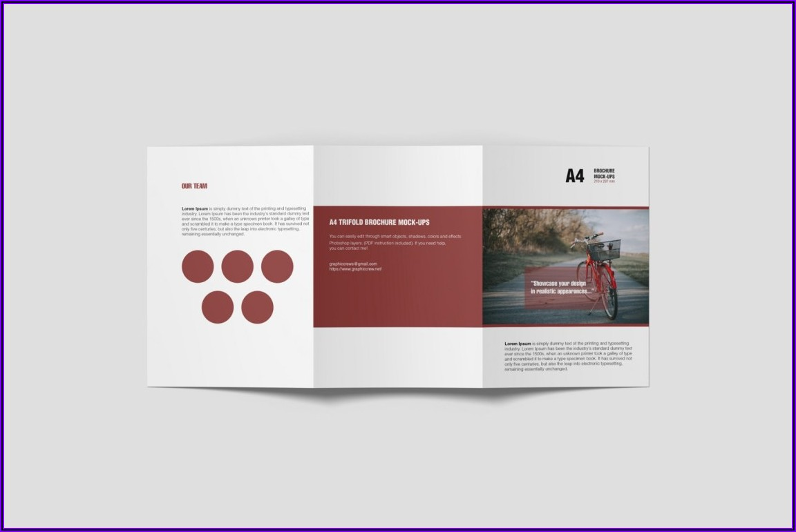 A4 Bifold Brochure Template Psd Free Download