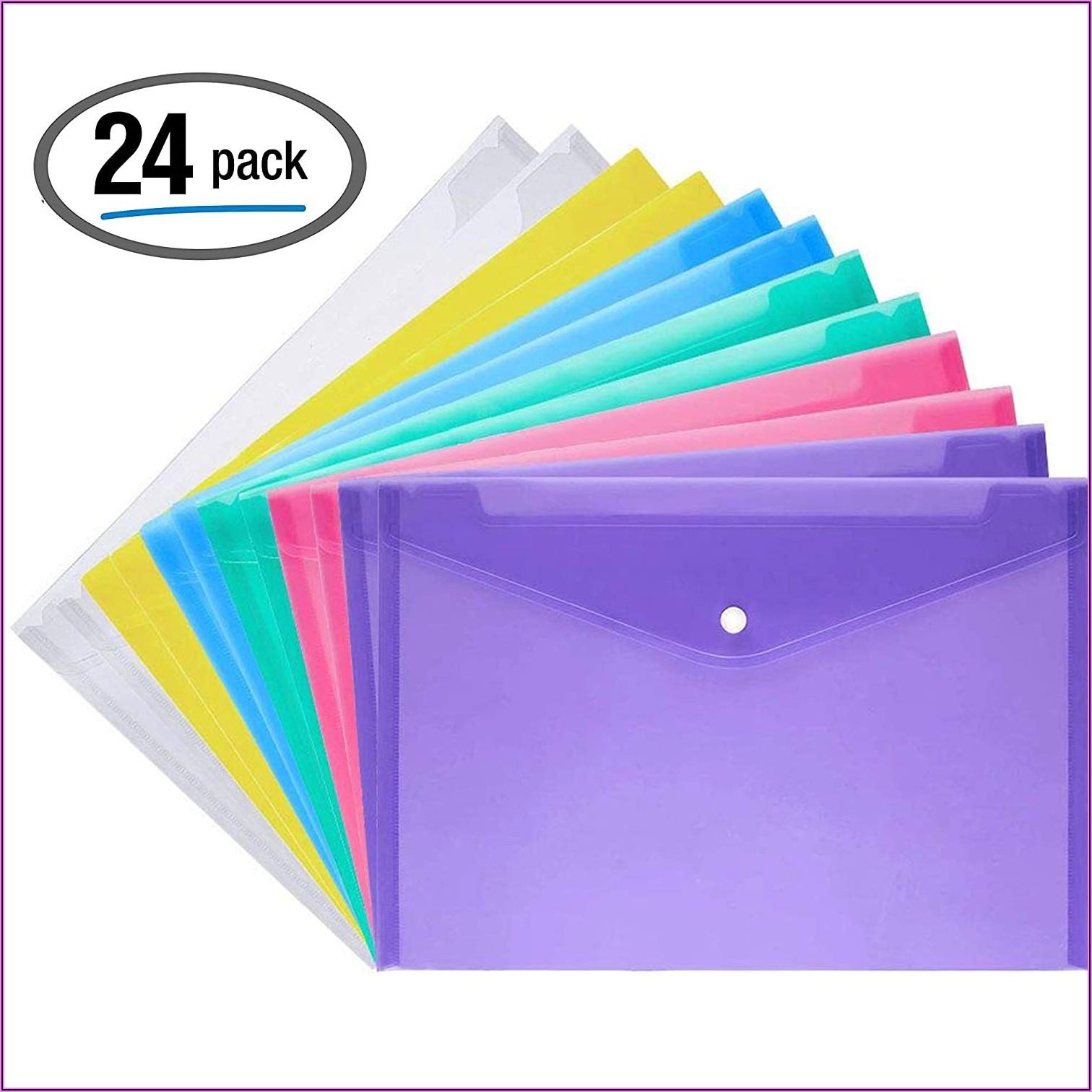 A4 Clear Envelope Folders