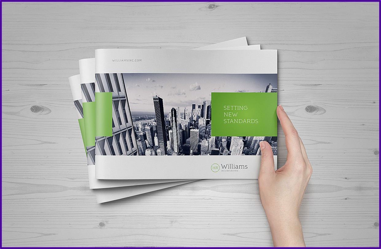 A4 Landscape Brochure Mockup Free