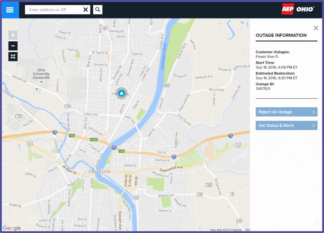 Aep Power Outage Map Dublin Ohio