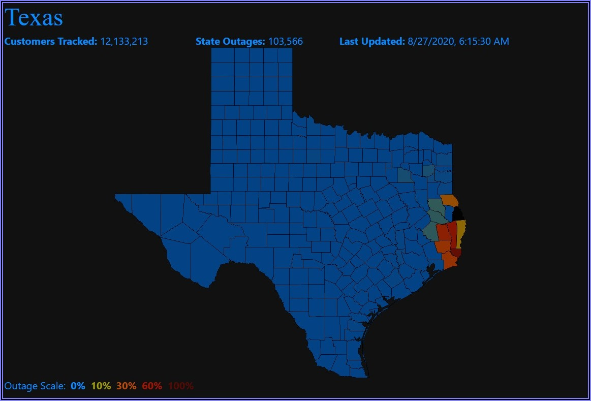Aep Power Outage Map Texas