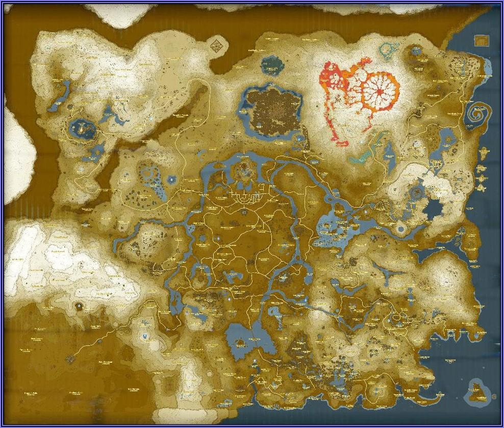 All Shrine Locations Botw Map