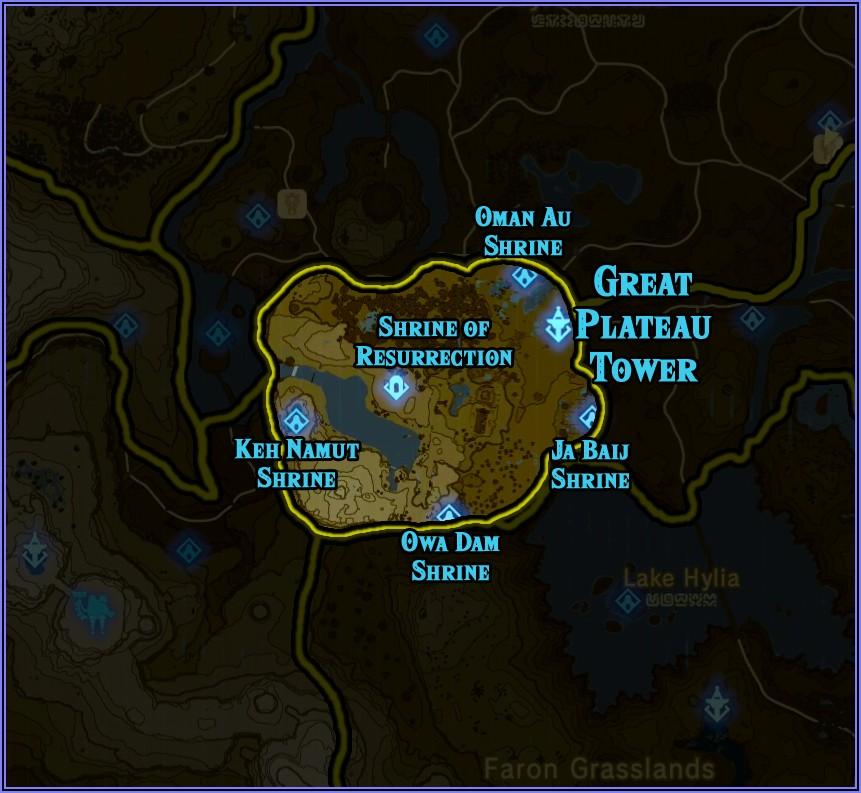 All Shrines Zelda Botw Map