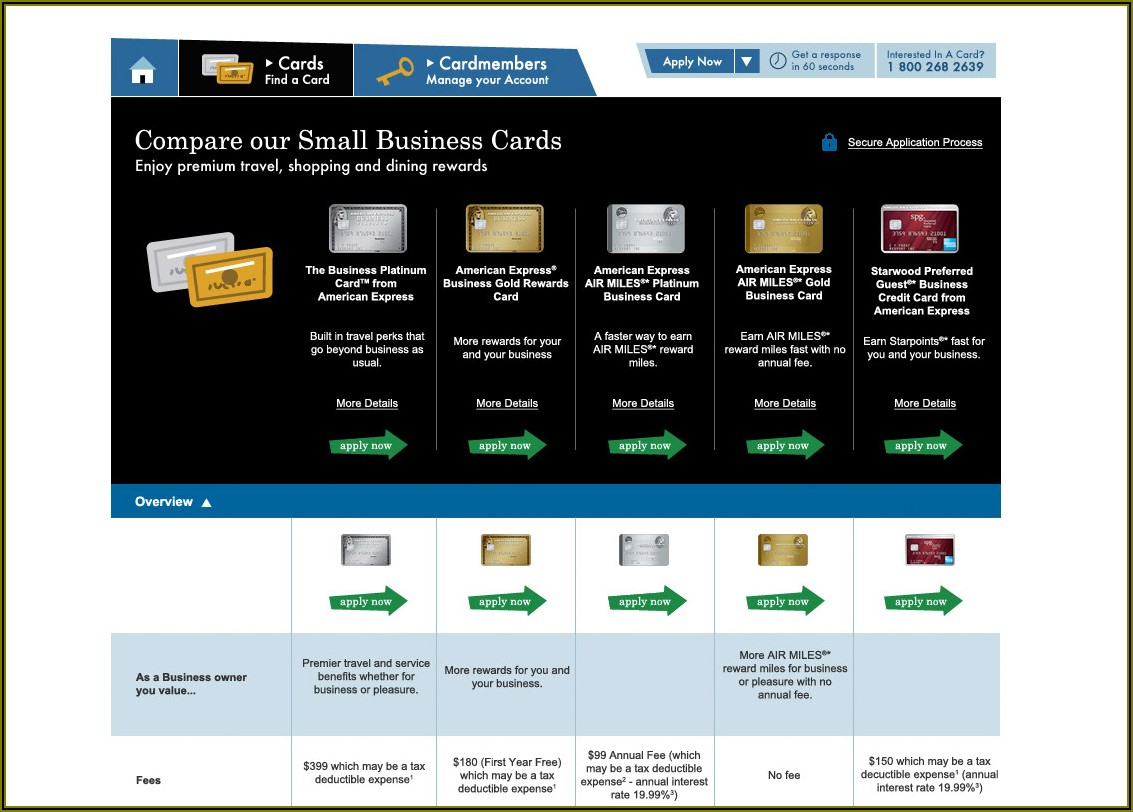 American Express Small Business Card Canada