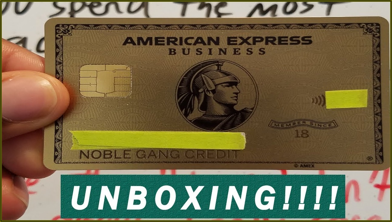 Amex Business Gold Card Metal