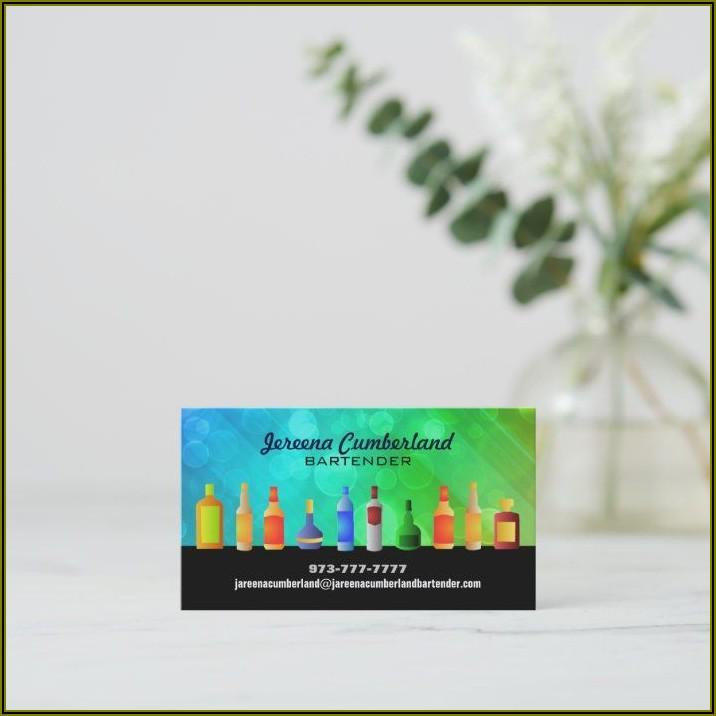Bartender Business Cards Ideas