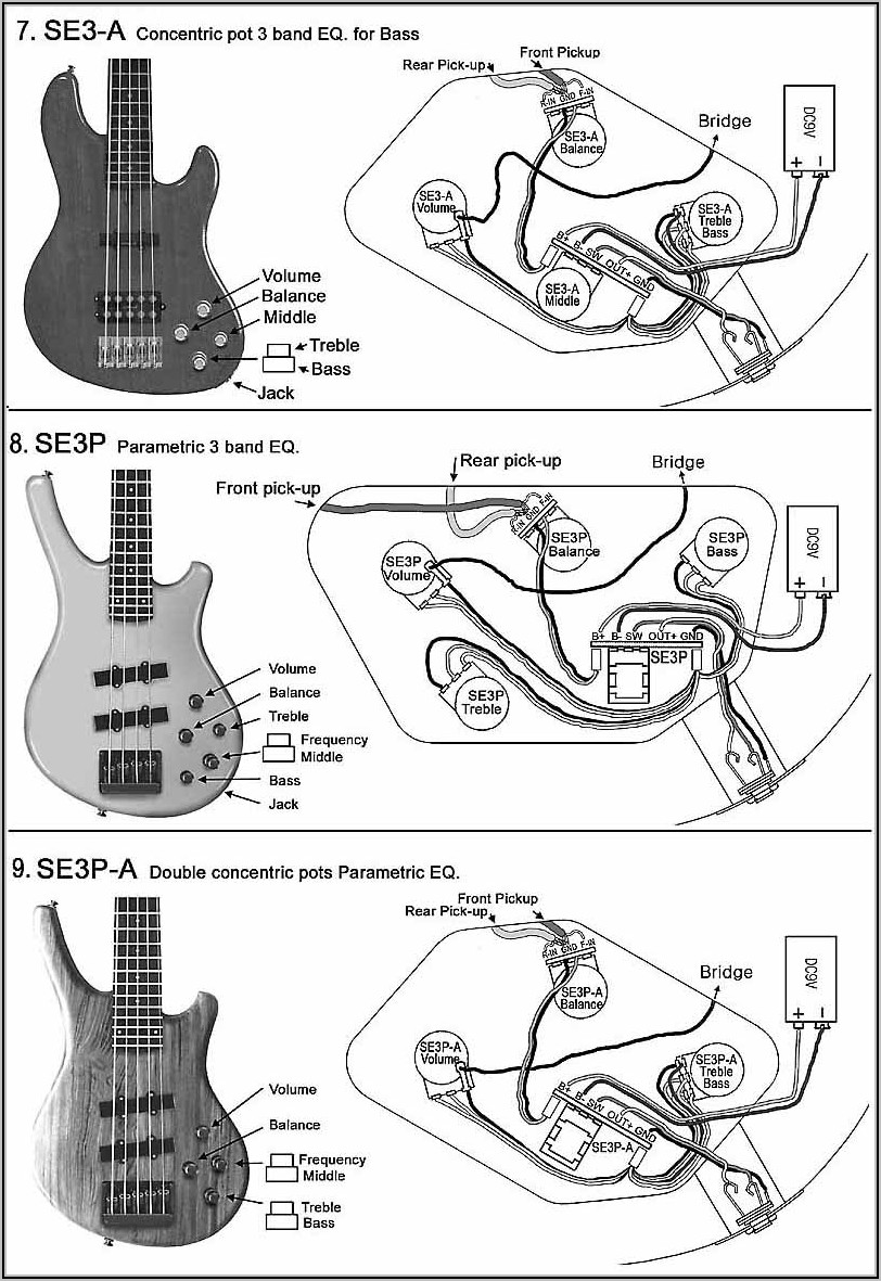 Bass Guitar Wiring Diagrams 1 Pickup