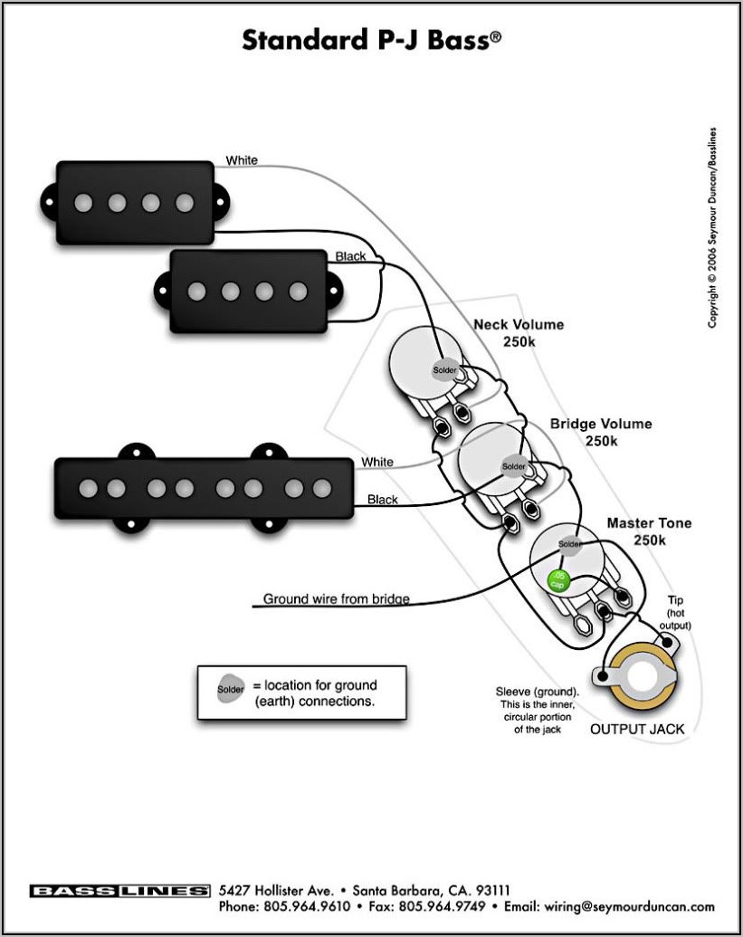Bass Guitar Wiring Diagrams 2 Pickups
