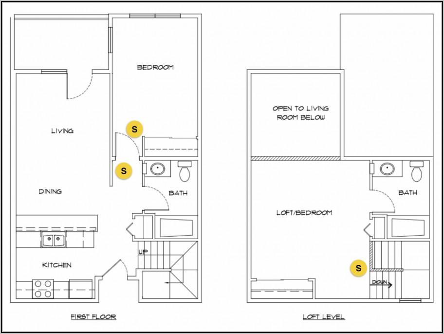 Bedroom Smoke Detector Placement Diagram