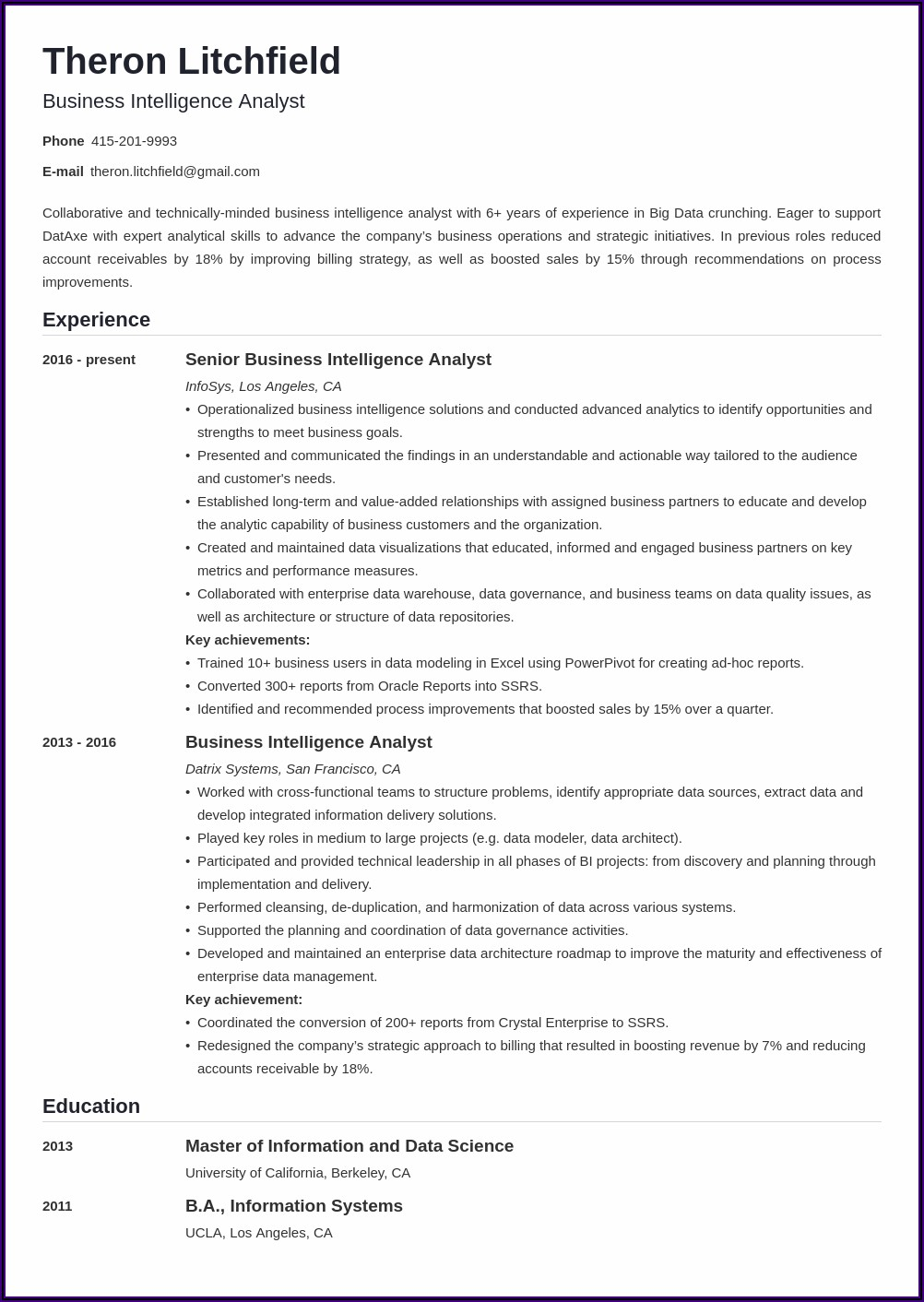 Best Resume Builder Application