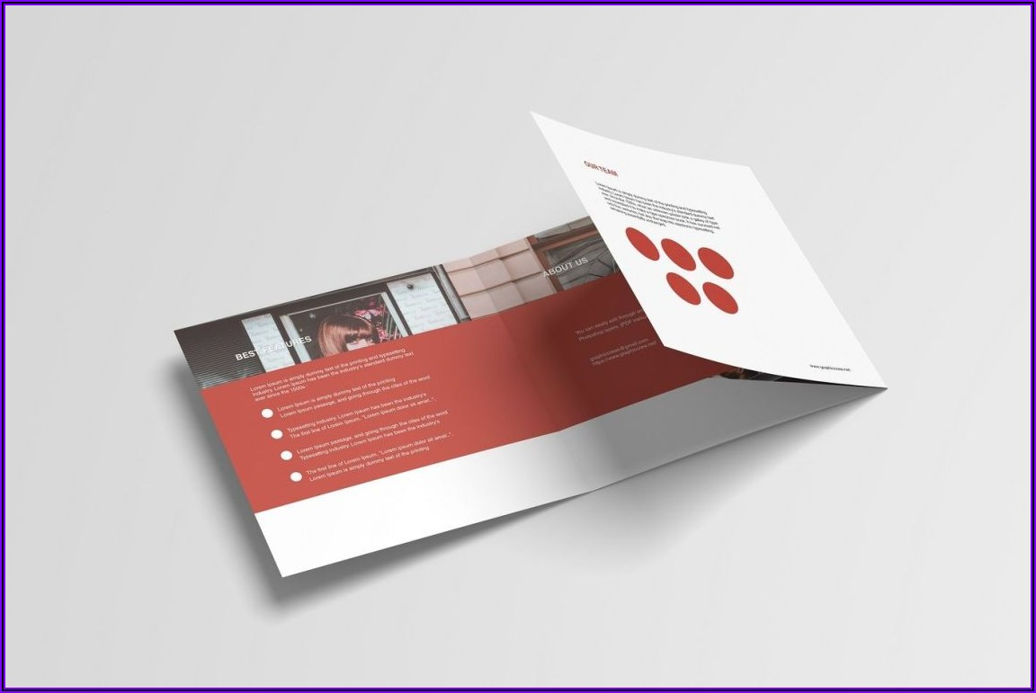 Bifold Brochure Mockup Free Psd