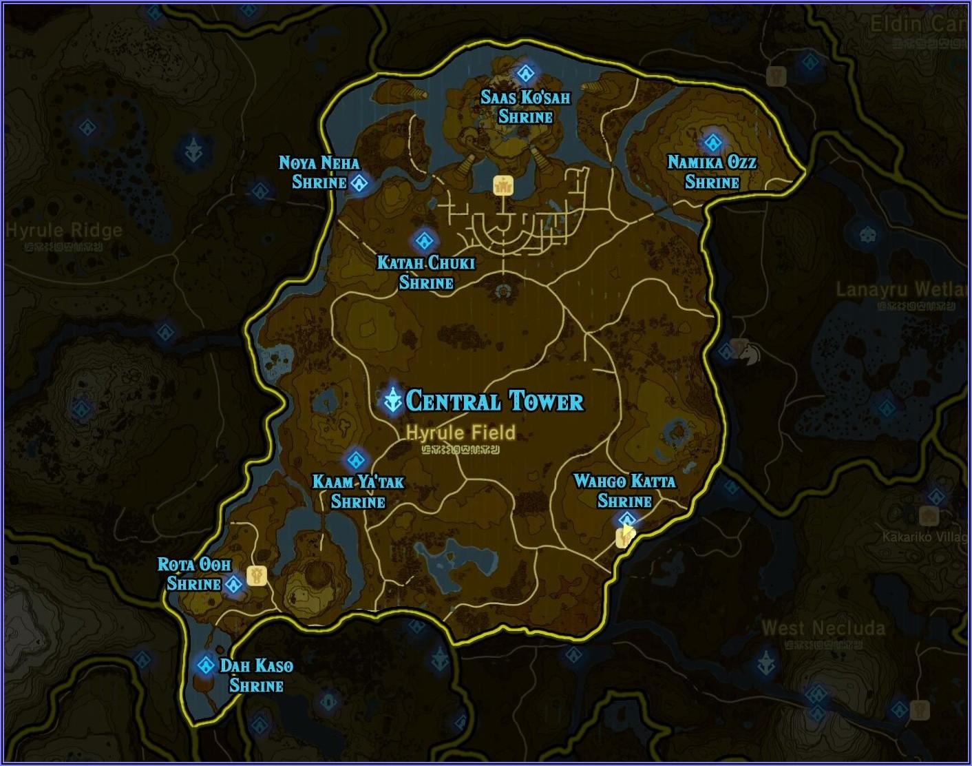 Botw High Res Shrine Map