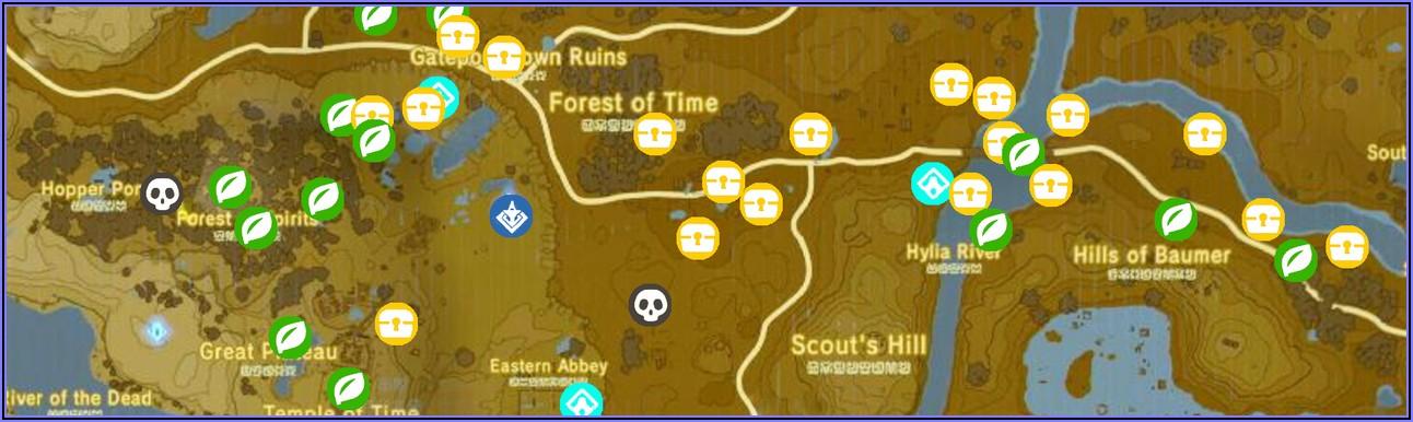 Botw Shrine Locations Map Ign