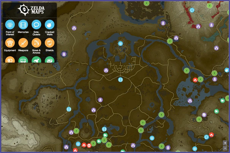 Botw Shrine Locations Map Interactive