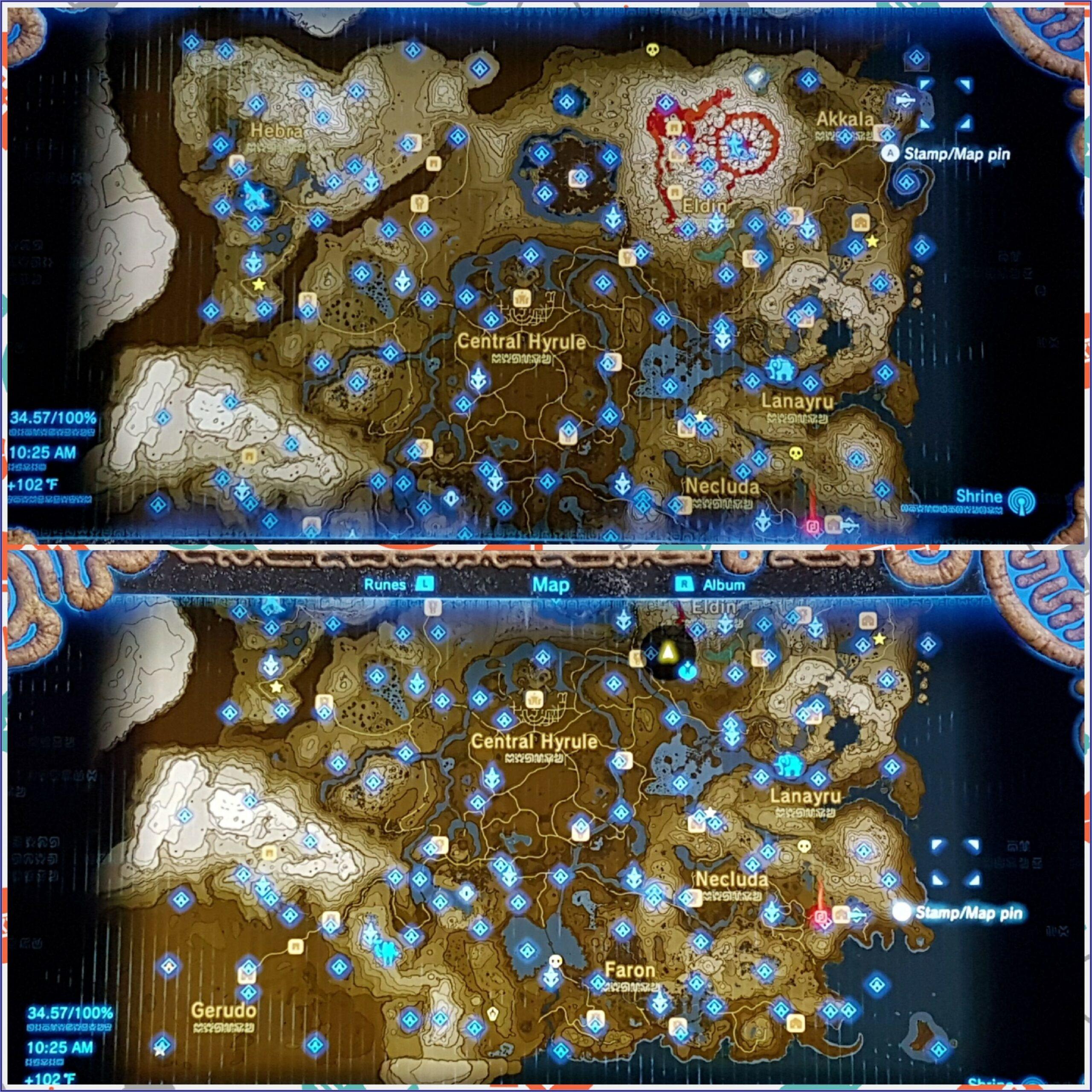 Botw Shrine Locations Map