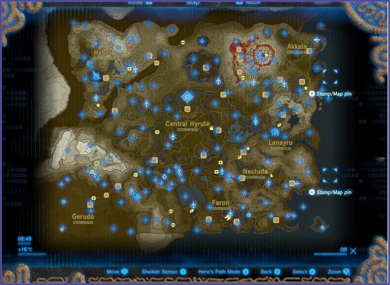 Botw Shrines Locations Map