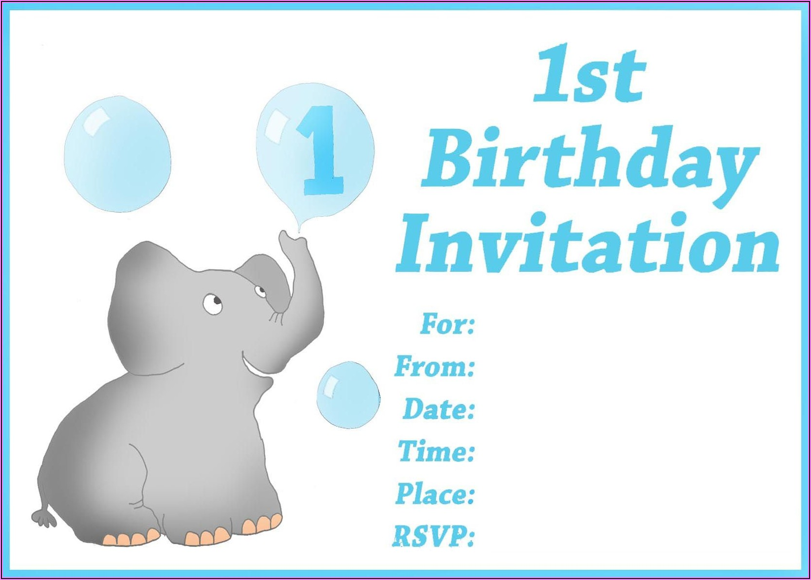 Boy 1st Birthday Invitations Templates Free
