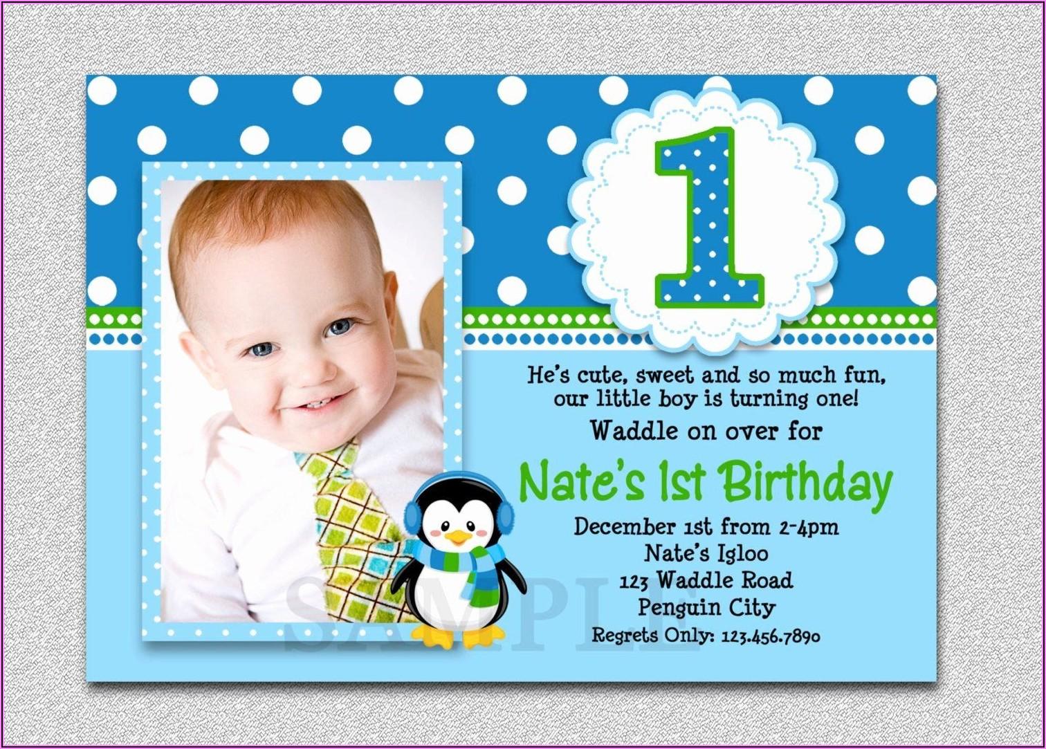 Boy First Birthday Invitations