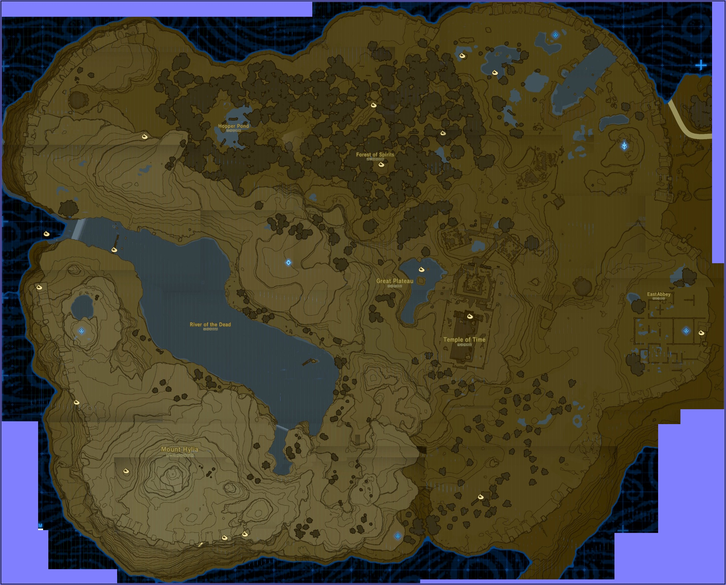 Breath Of The Wild Shrine Locations Map Great Plateau