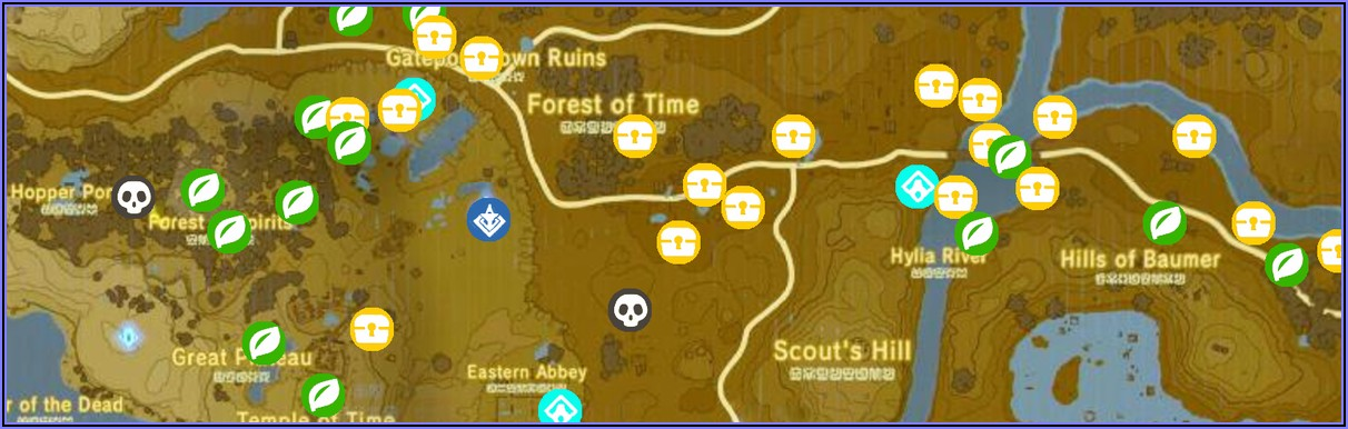Breath Of The Wild Shrine Locations Map