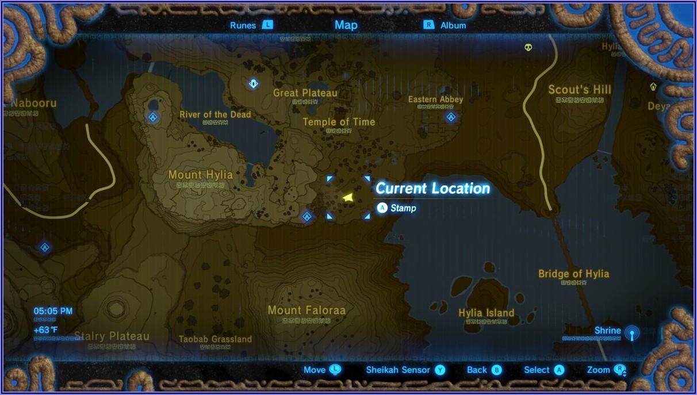 Breath Of The Wild Shrine Map Great Plateau