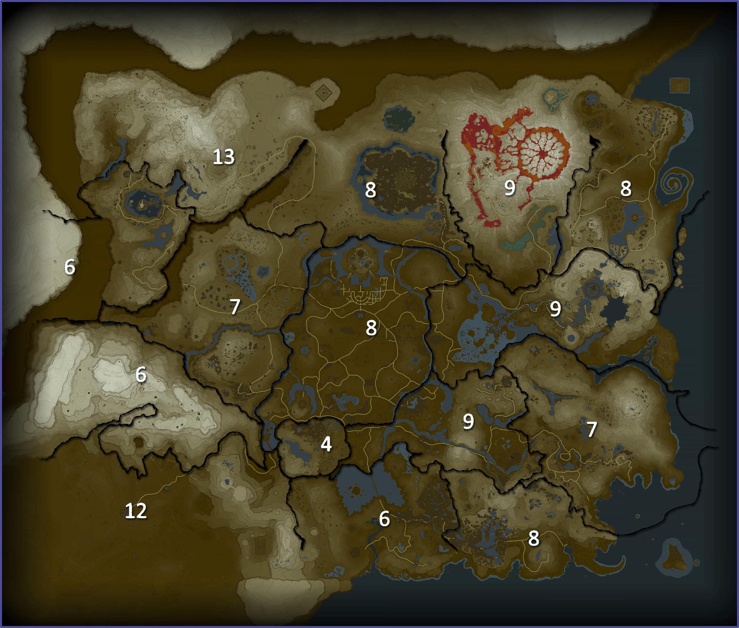 Breath Of The Wild Shrine Map