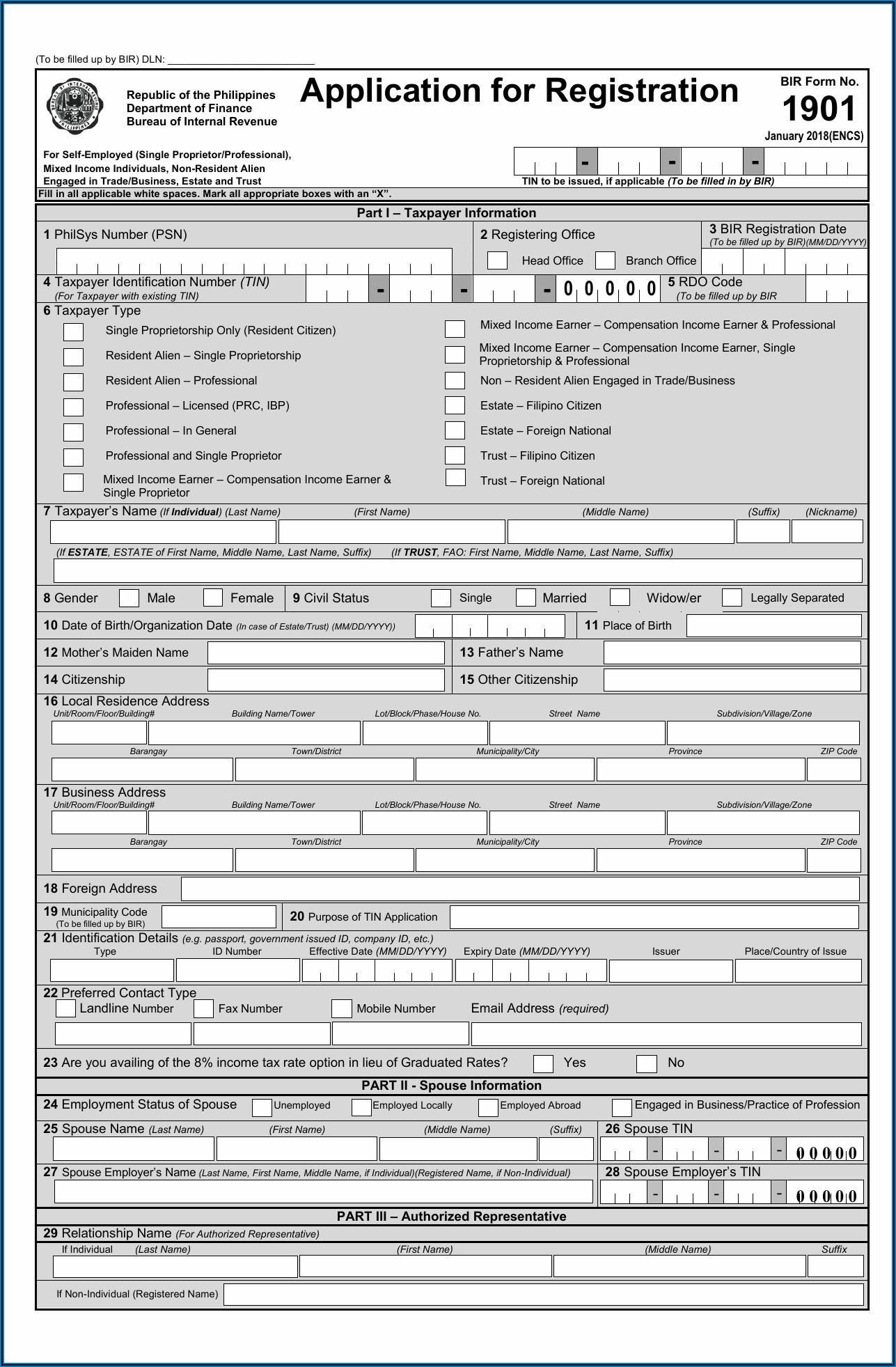 Bureau Of Internal Revenue Form 1902