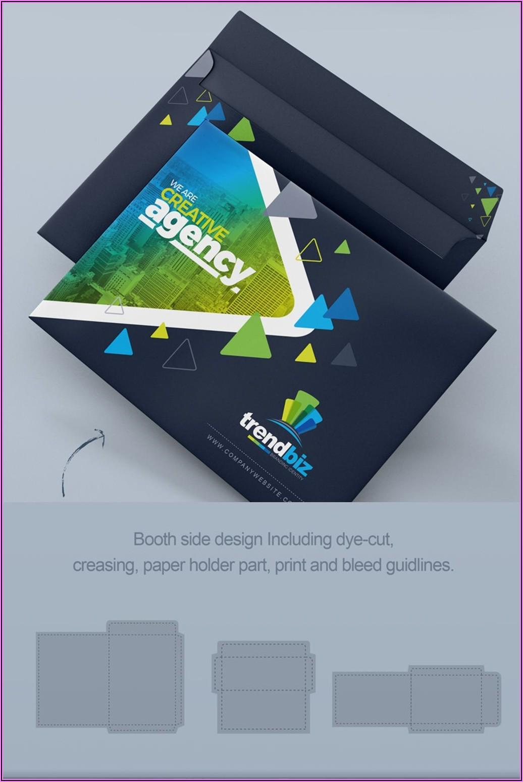 Business Card Envelope Template Design