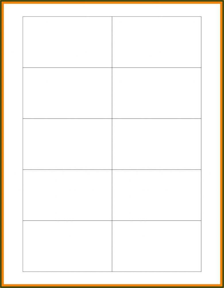 Business Card Template Word 10 Per Sheet