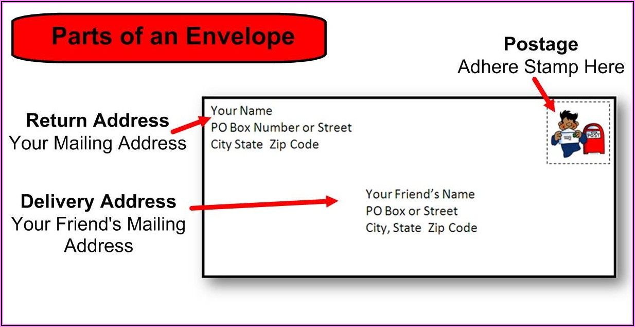 Business Envelope Address Template