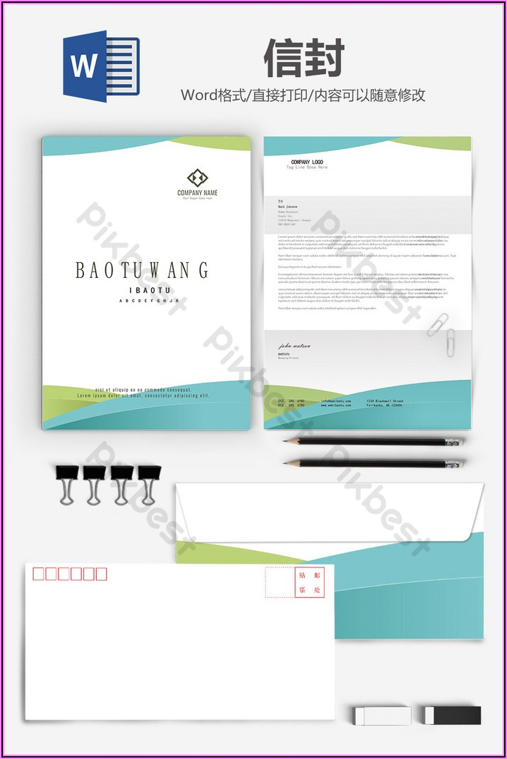 Business Envelope Template Word