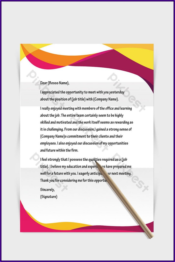 Business Letter Template Word Free Download