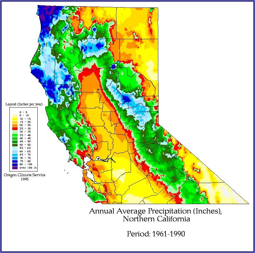 California Weather Map Temperature