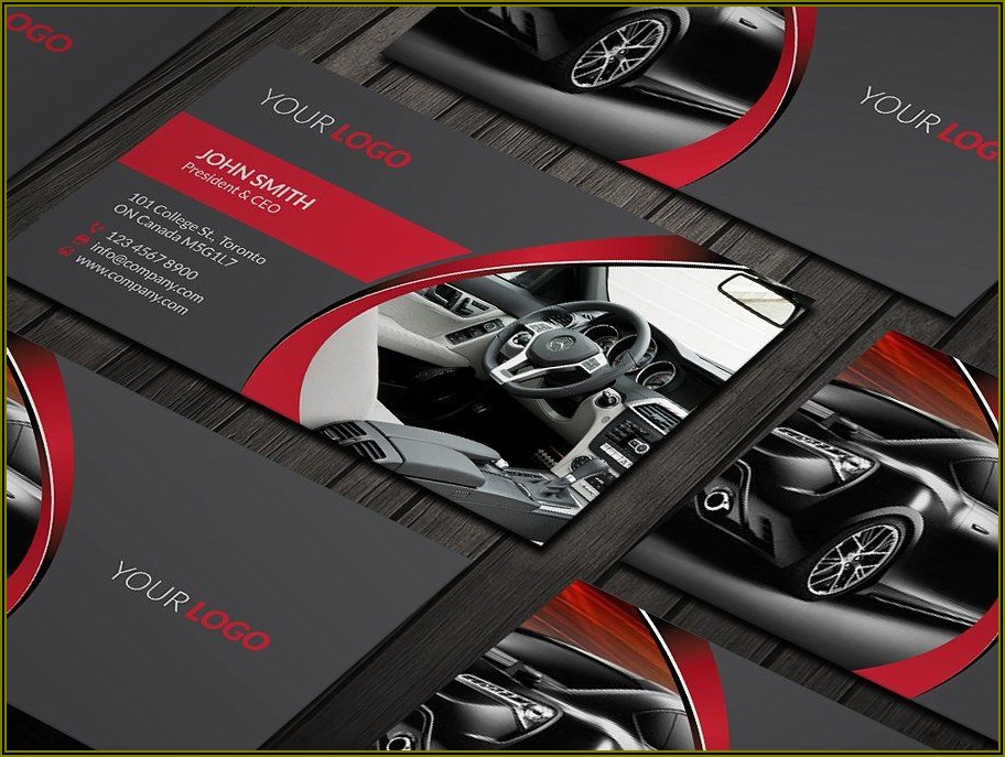 Car Cleaning Business Cards