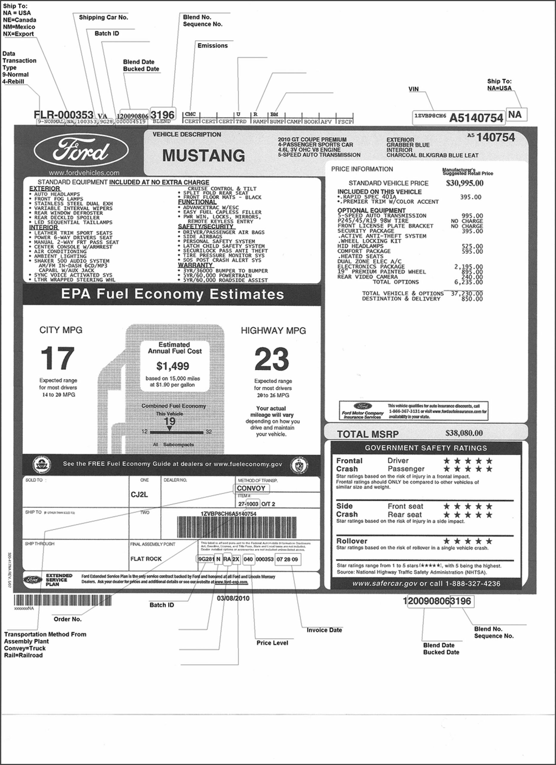 Car Invoice Lookup By Vin
