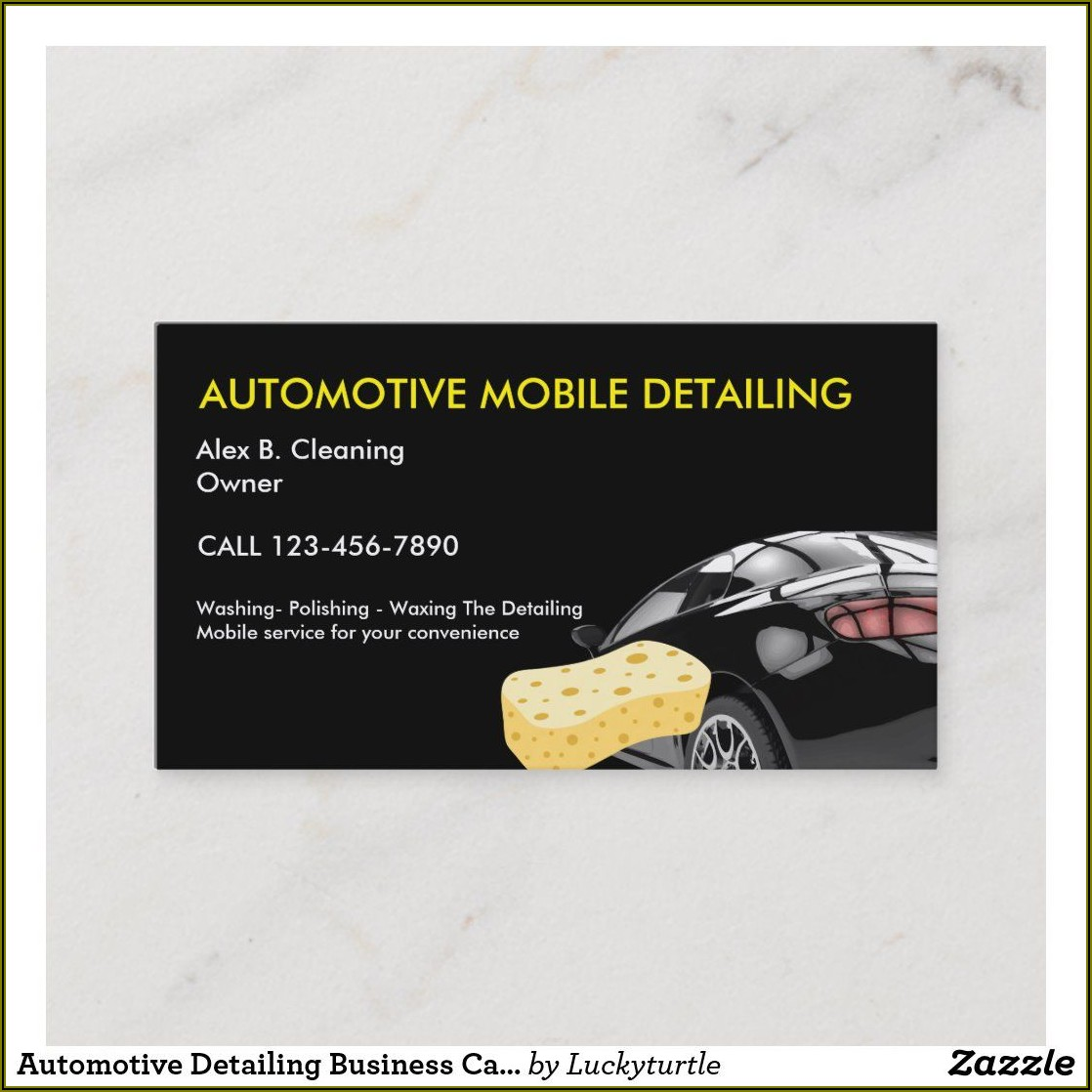 Car Wash And Detailing Business Cards
