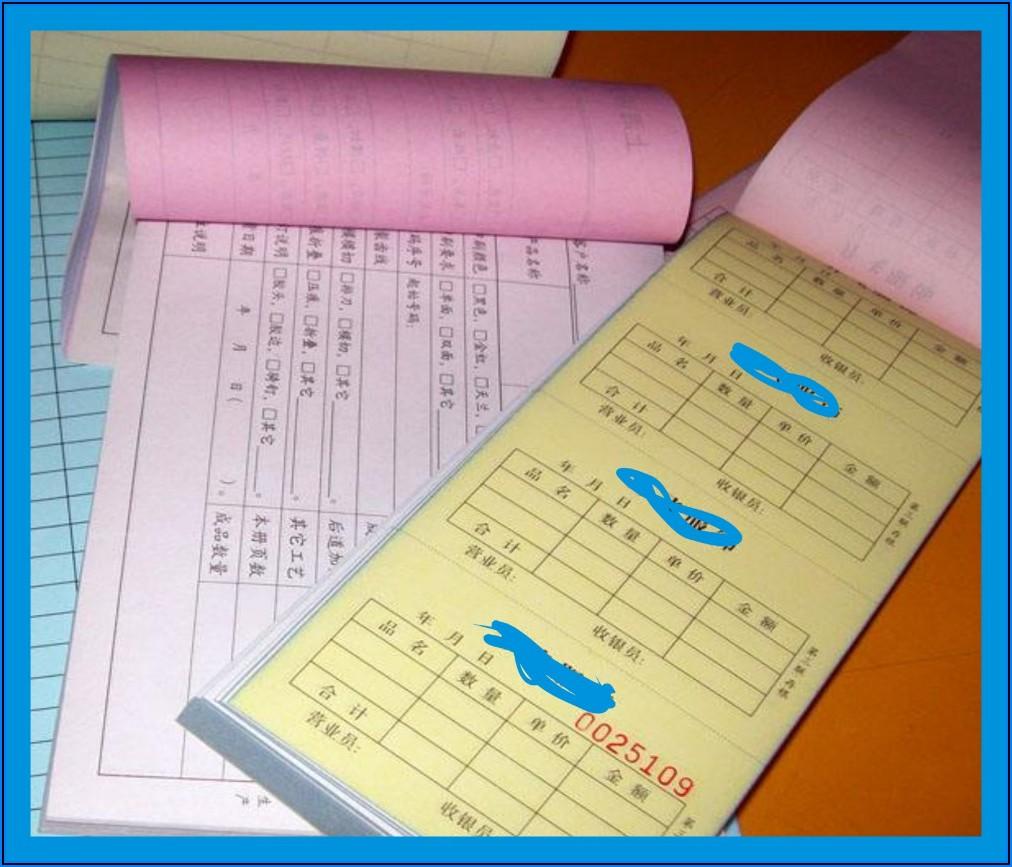 Carbonless Paper Bill Book Printing