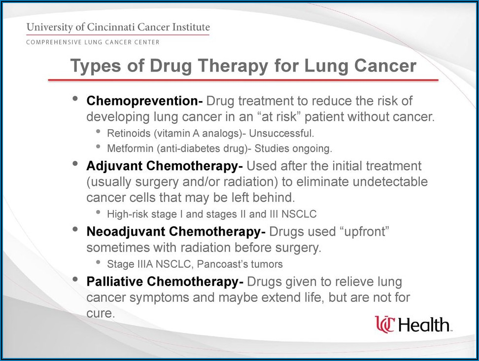Chemotherapy In Pill Form For Lung Cancer