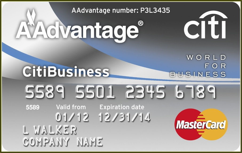 Citibank American Airlines Business Credit Card Login