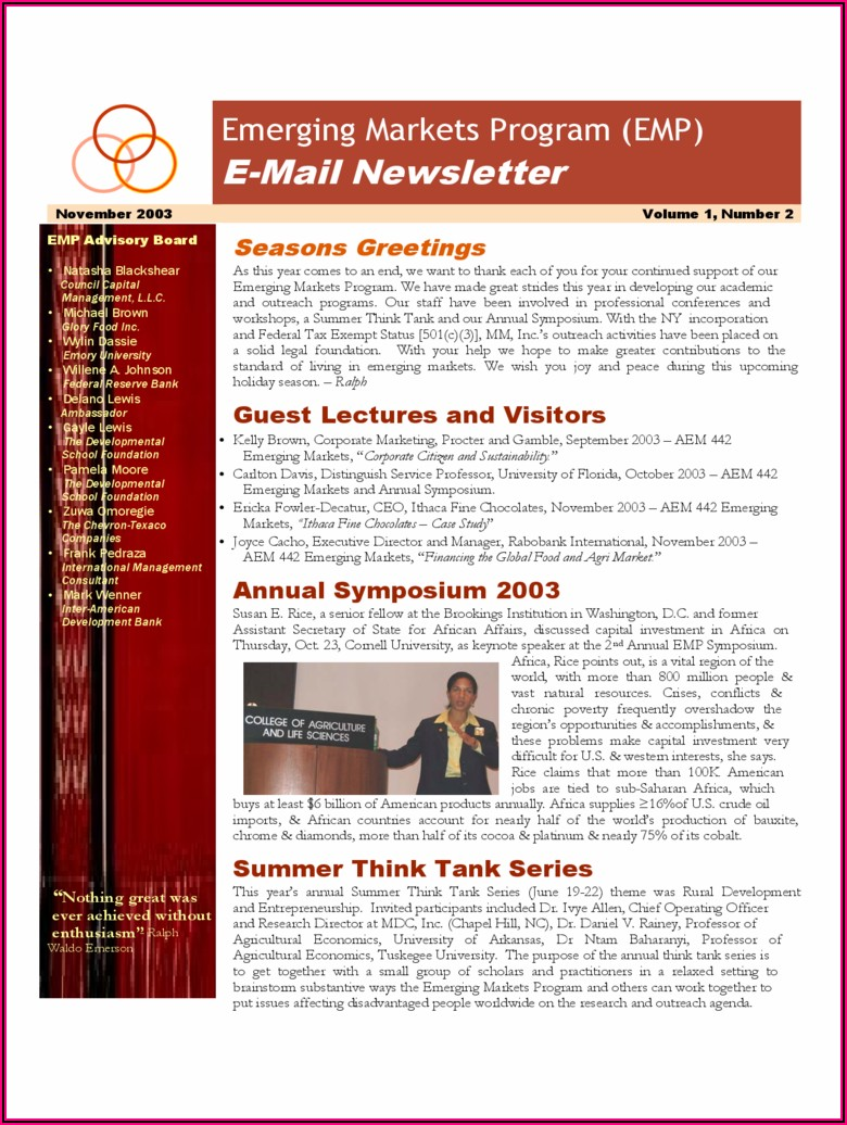 College Newsletter Templates Free Download