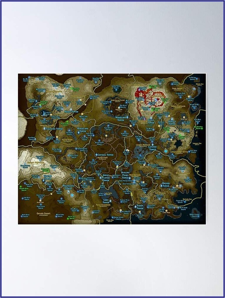 Complete Shrine Map Botw
