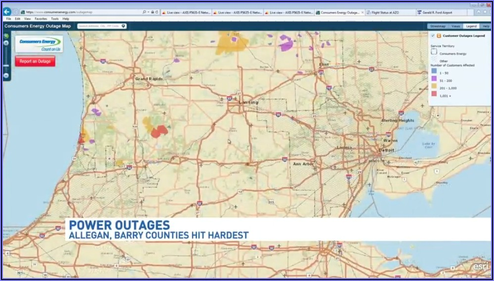 Consumers Energy Outage Map Kent County