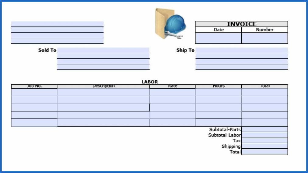 Contract Labor Invoice Template
