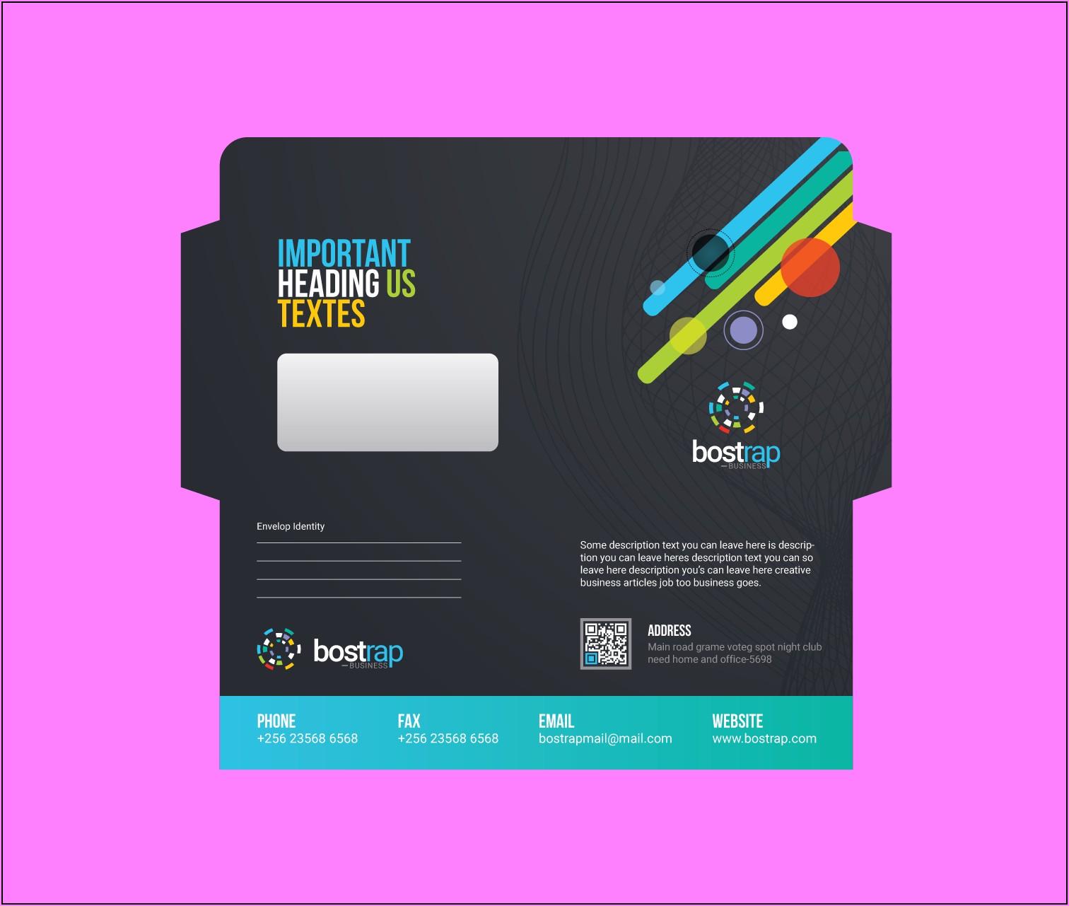 Corporate Envelope Design Template