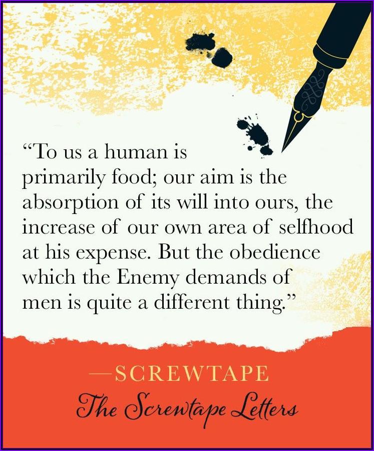 Cs Lewis Screwtape Letters Quotes