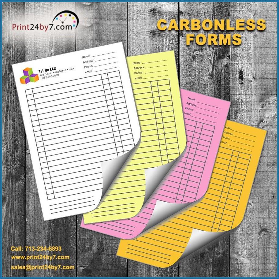 Custom Printed Carbonless Forms