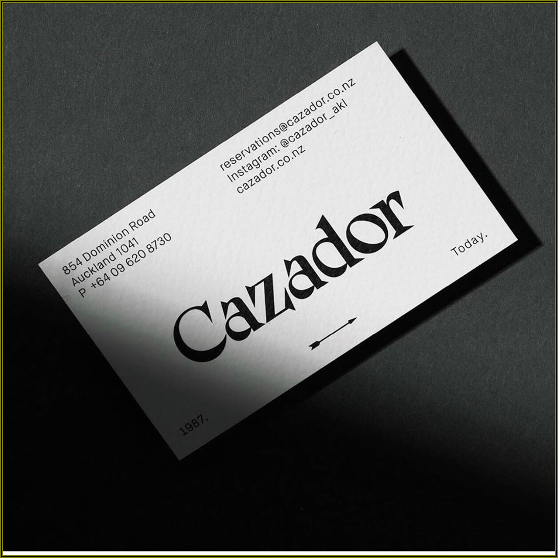Debossed Business Cards Nz